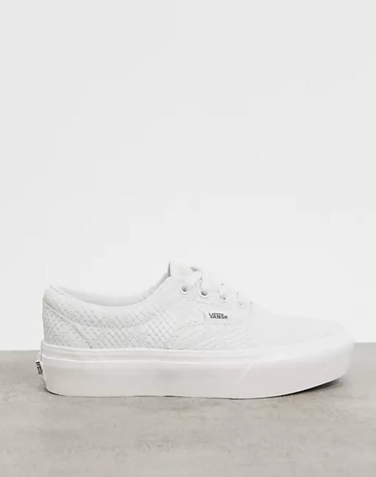 Era Platform Animal Embossed Sneakers in White