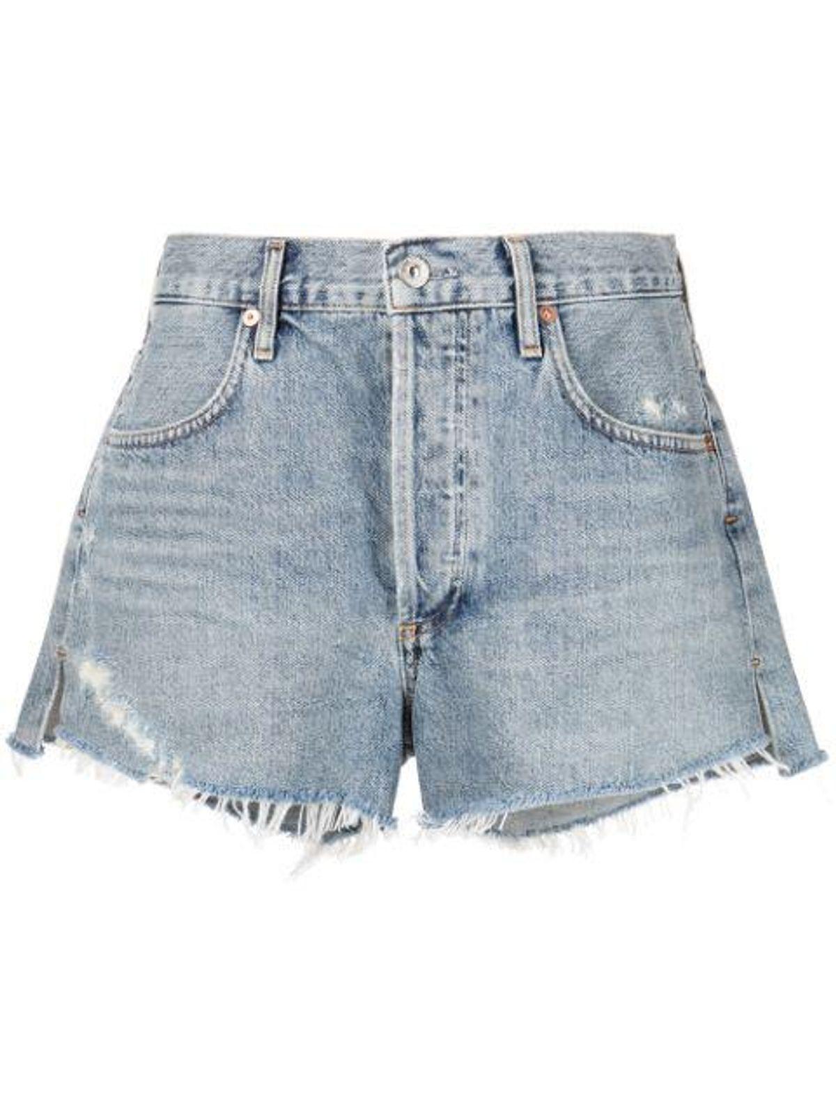 Annabelle Fringed Edge Denim Shorts