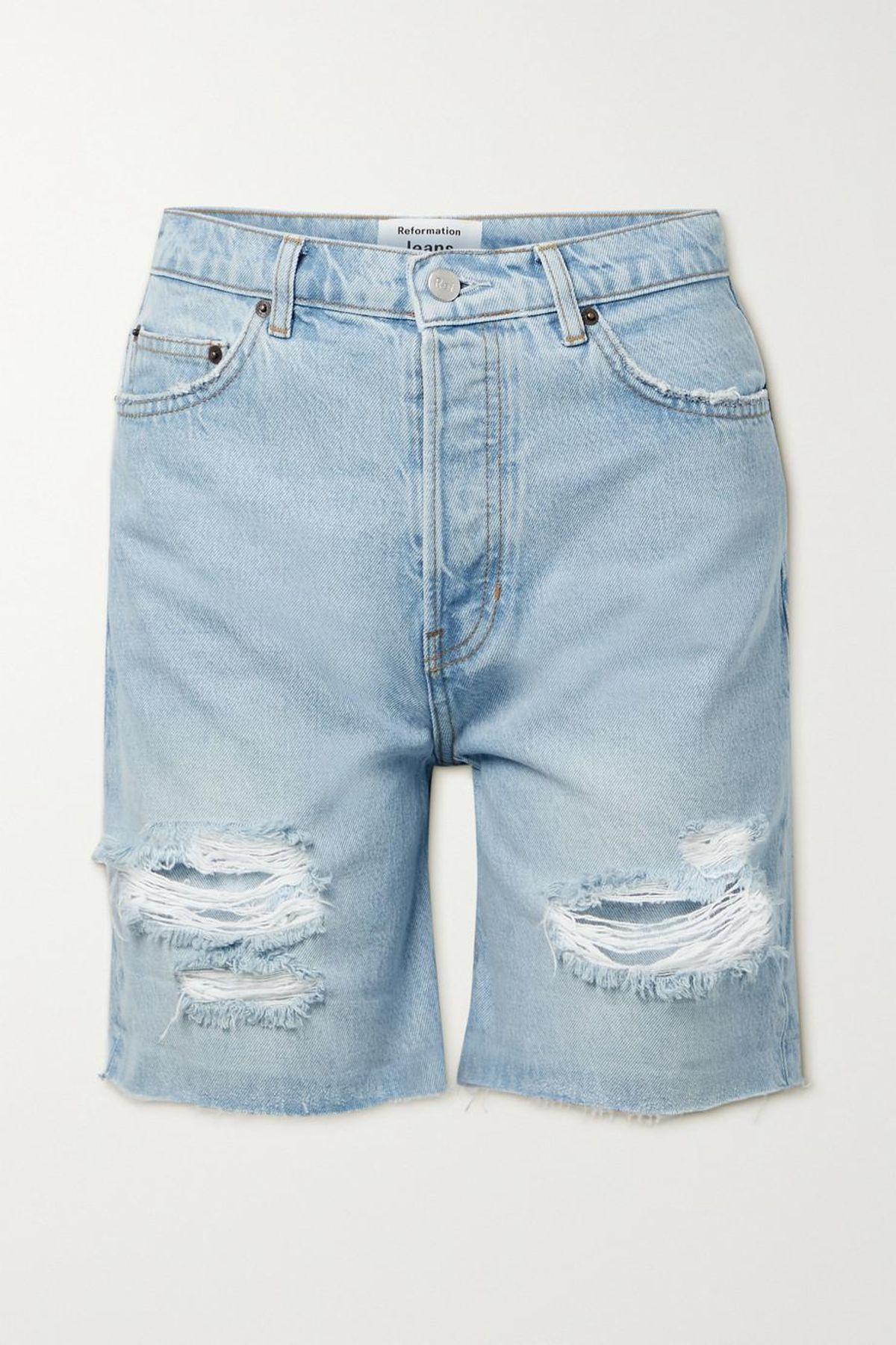Max Distressed Organic Denim Shorts
