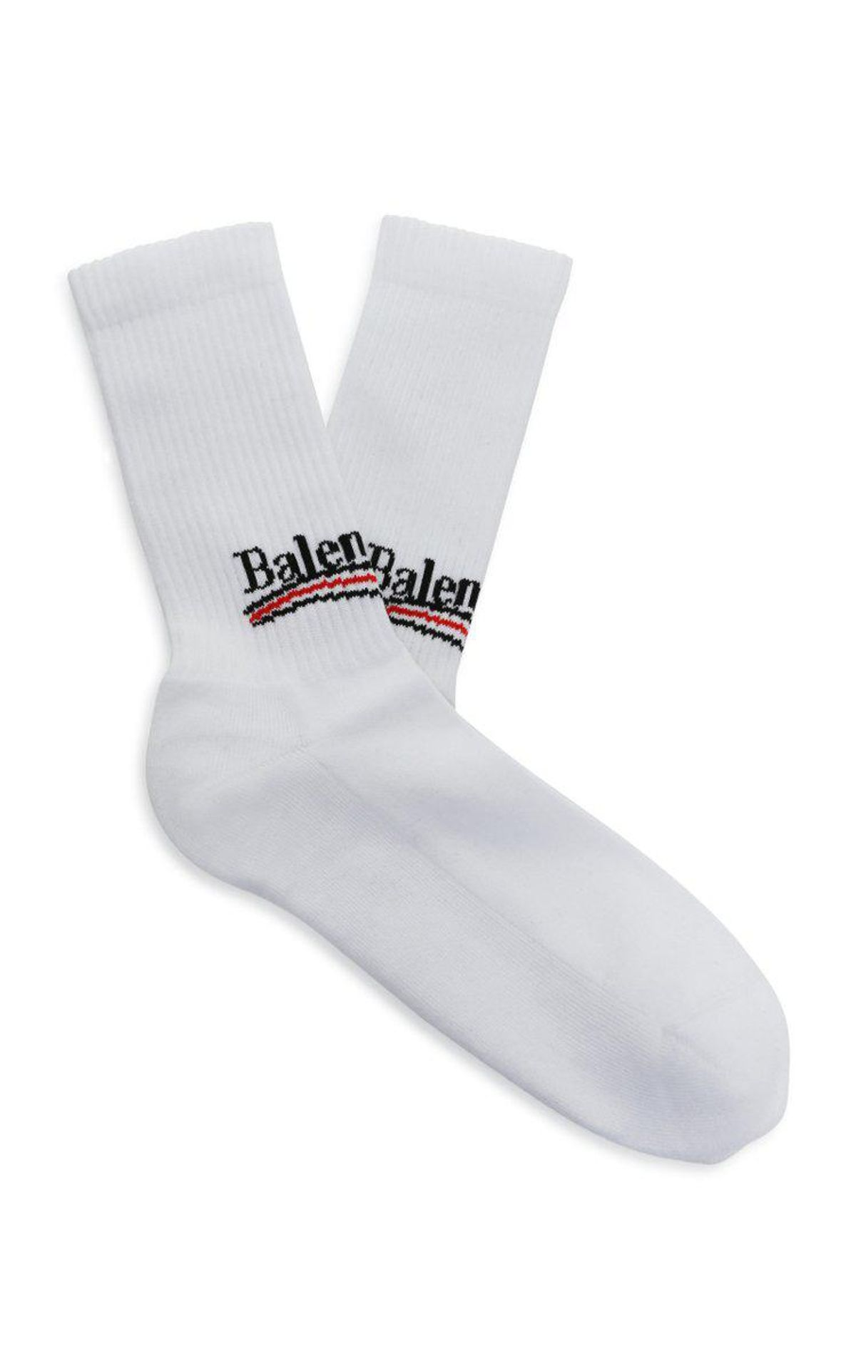Intarsia Cotton Blend Socks