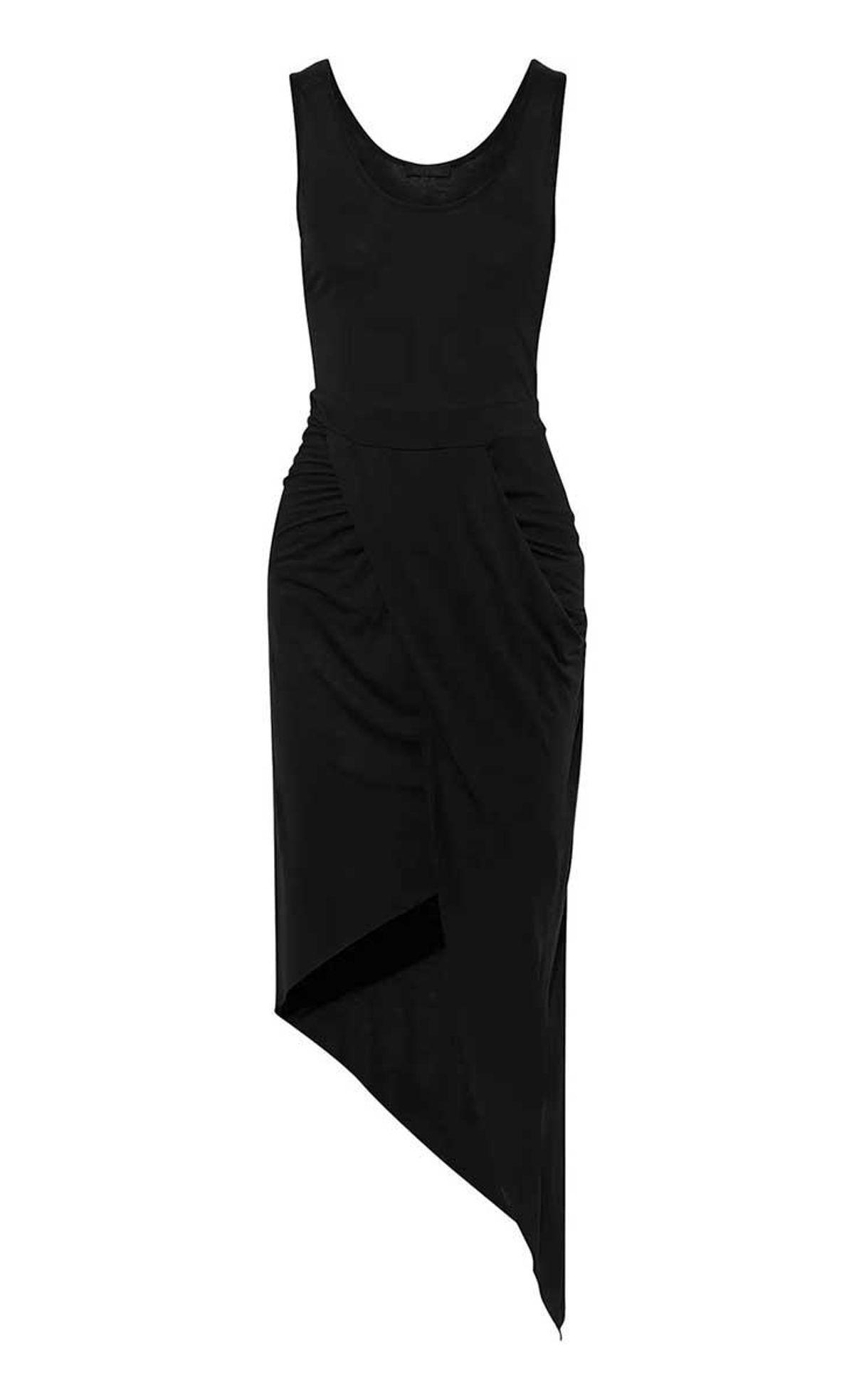 the range asymmetric draped modal blend jersey dress