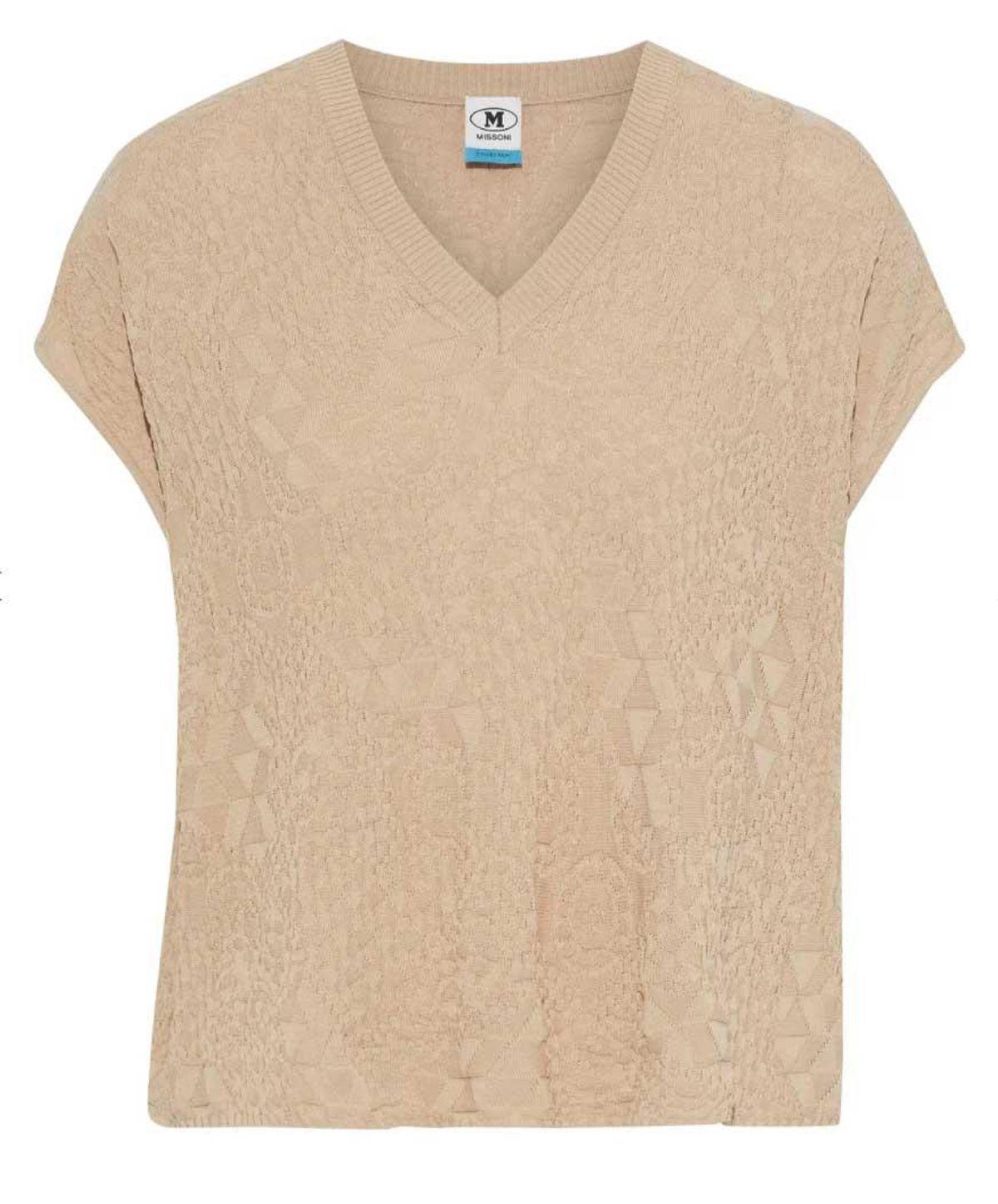 m missoni crochet knit cotton top