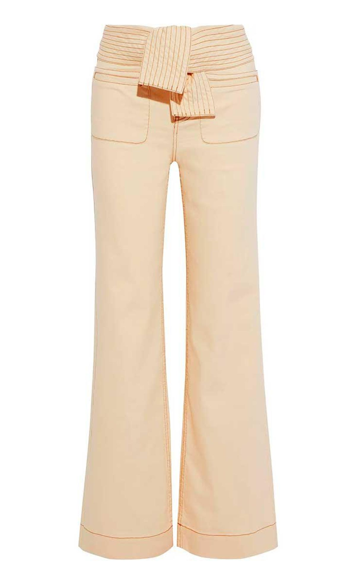 ulla johnson wade belted high rise flared jeans