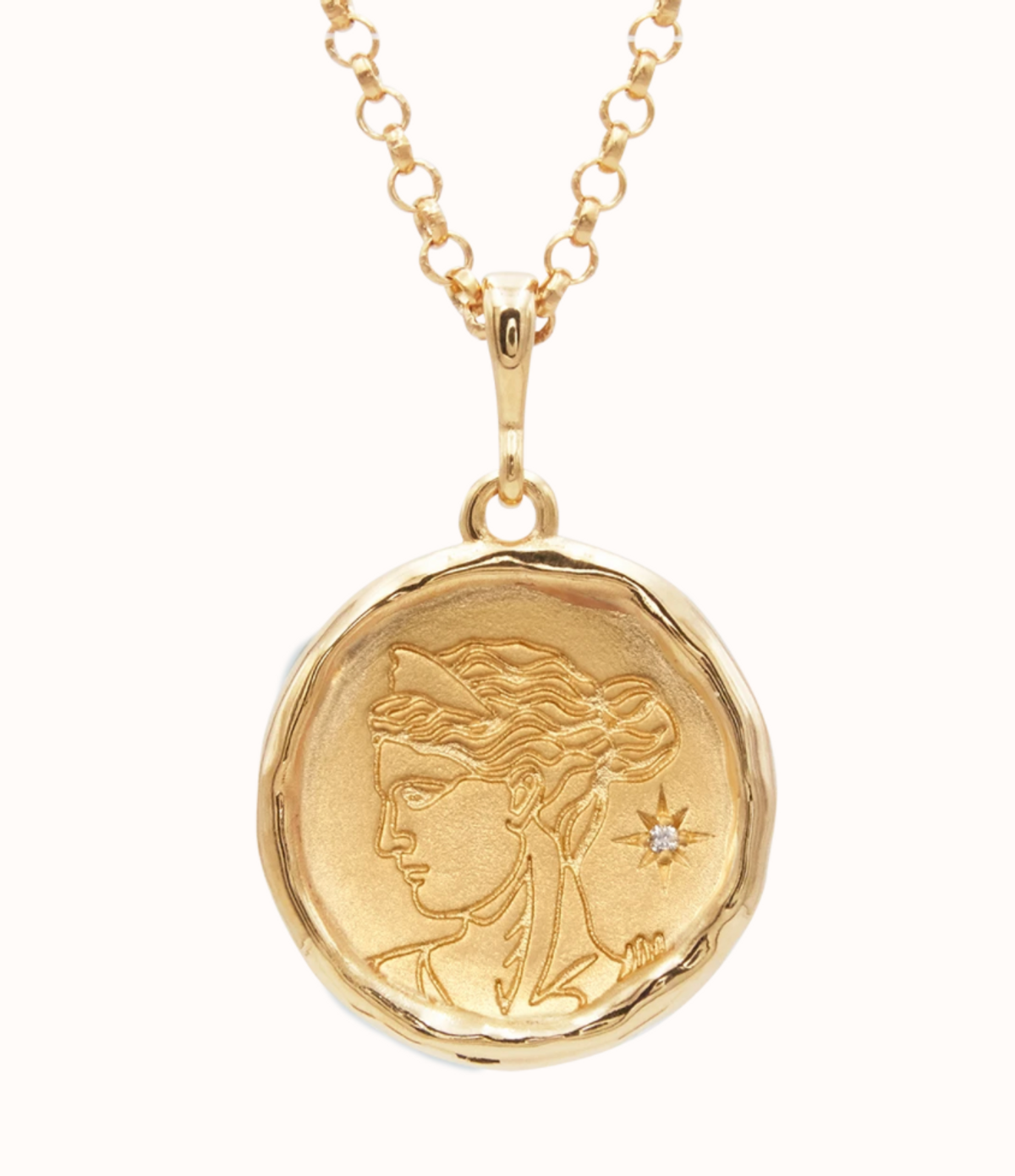 Artemis Goddess of Wild Things Necklace with Diamond