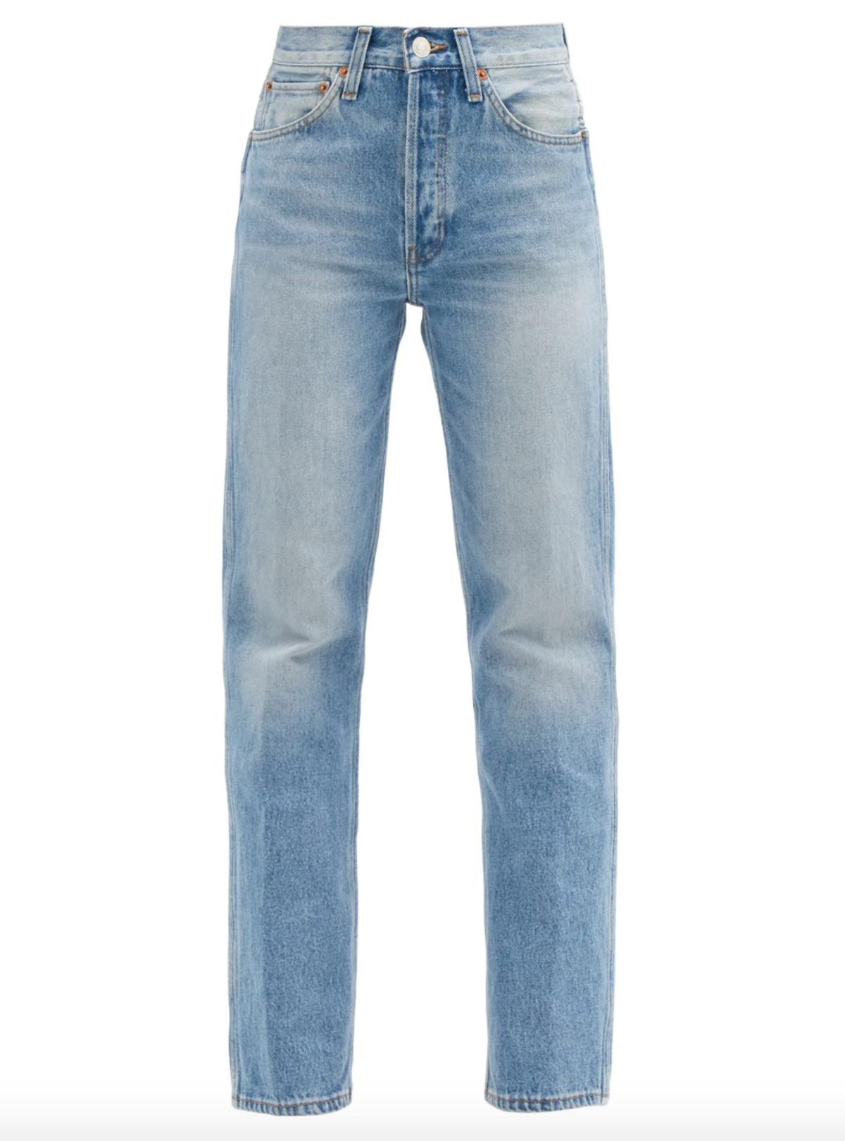 90s High-Rise Straight Leg Jeans