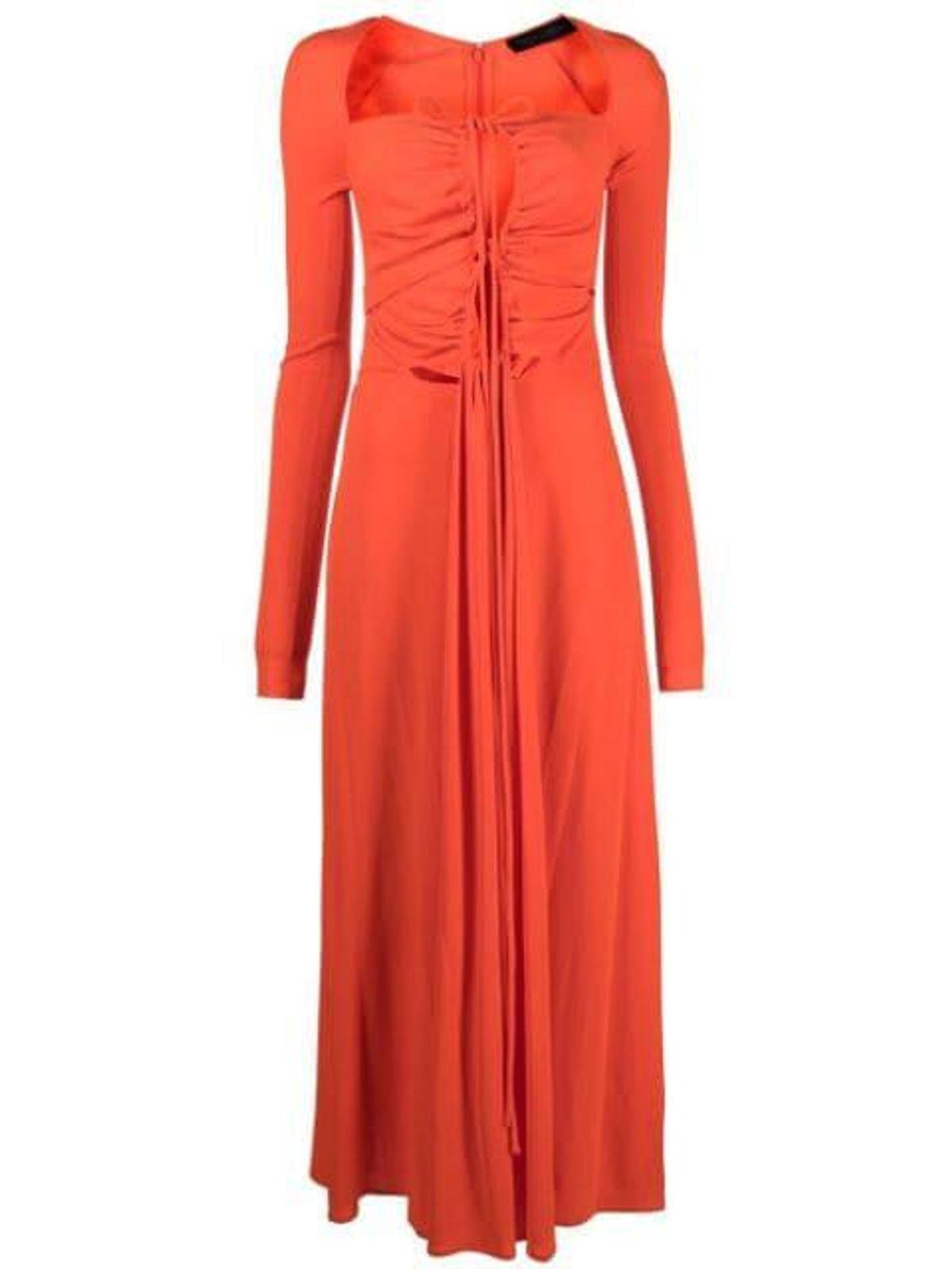 Jersey Drawstring Long Dress