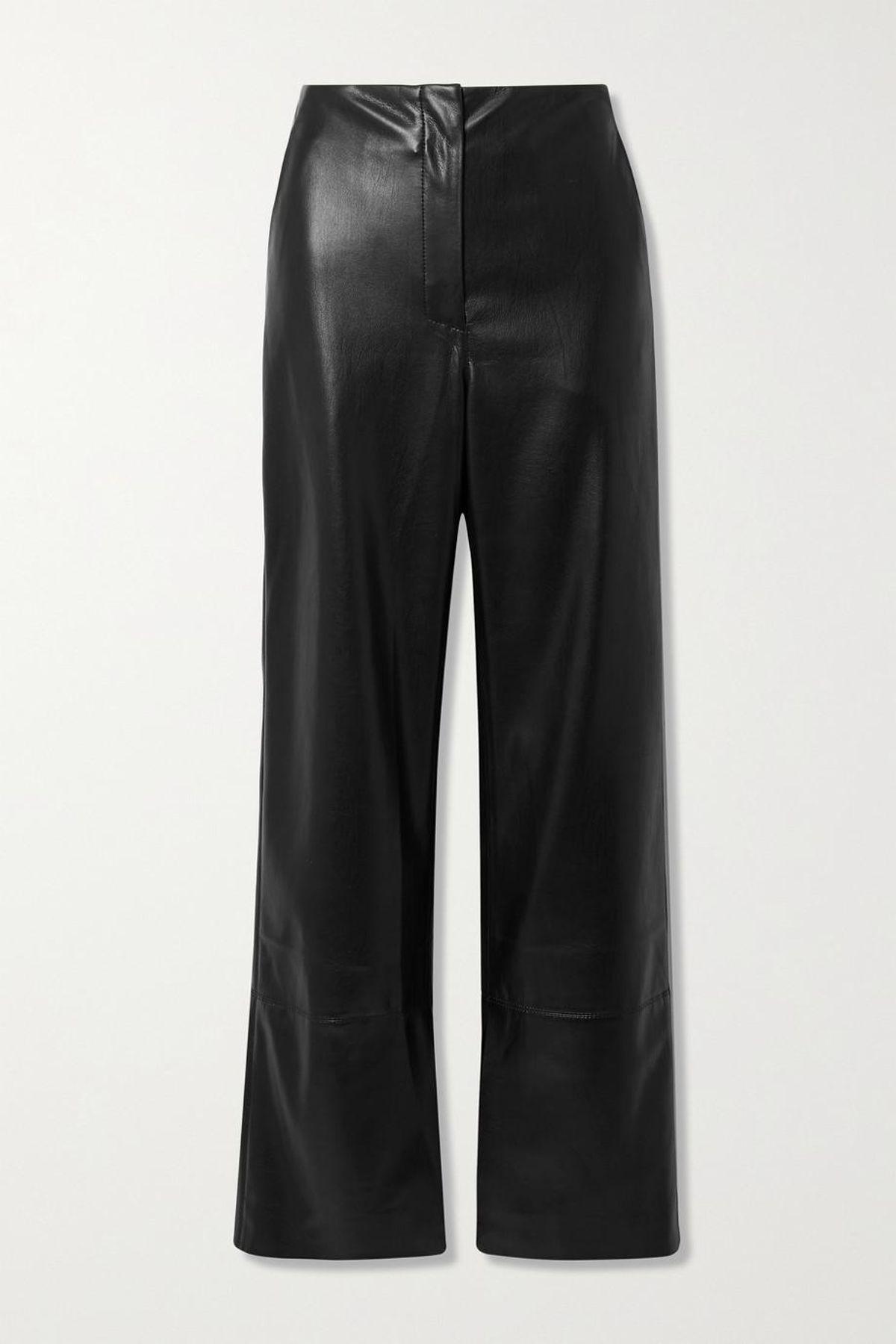 Rhyan Vegan Leather Straight Leg Pants
