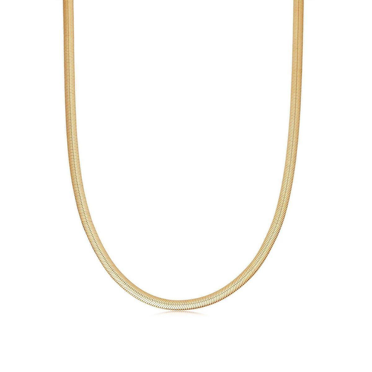 missoma flat snake chain necklace