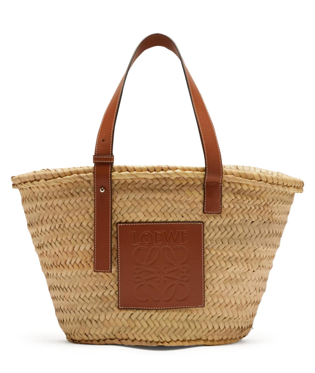 Medium Raffia Basket Bag