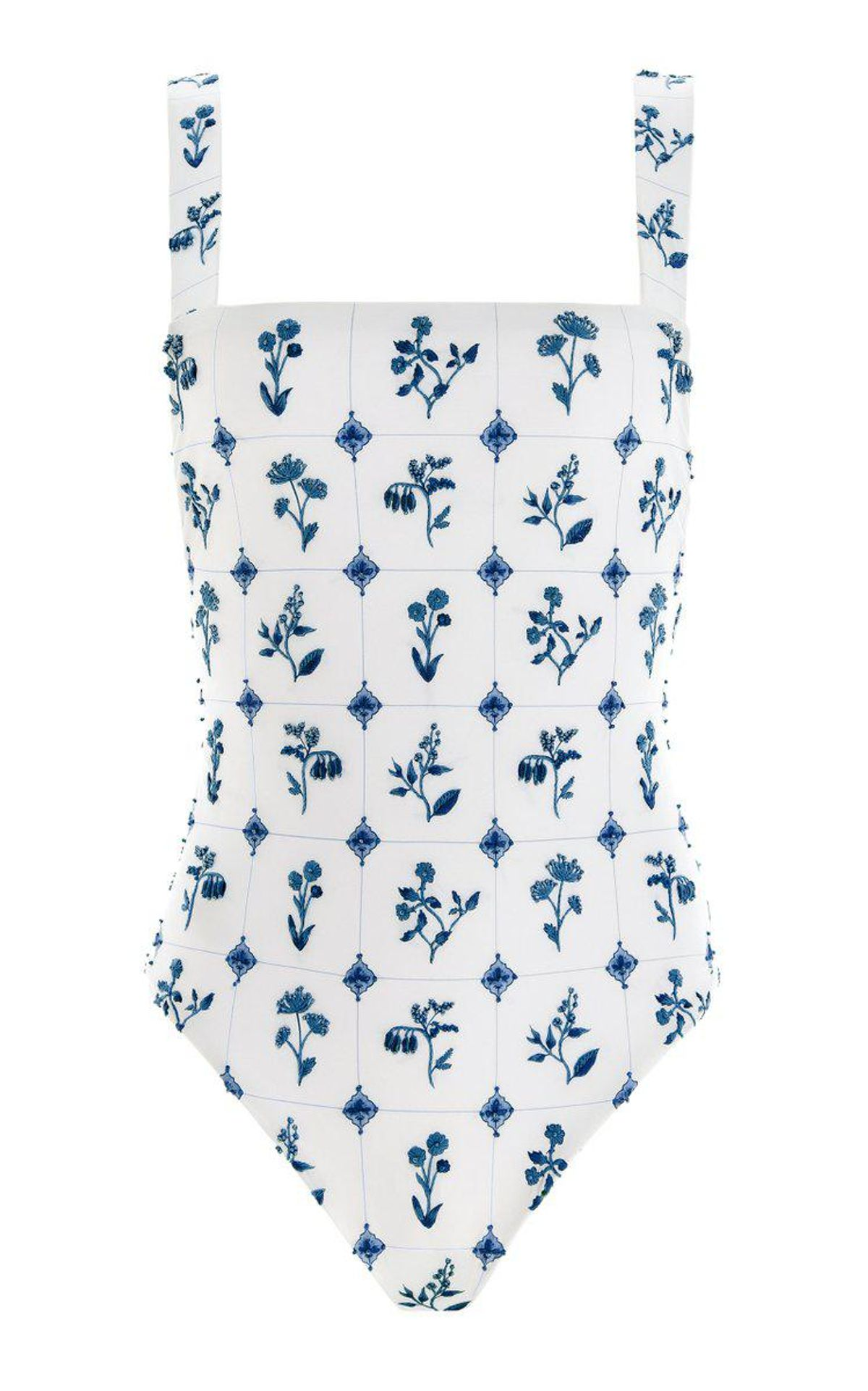 Cafe Loza Hand Embroidered One Piece Swimsuit