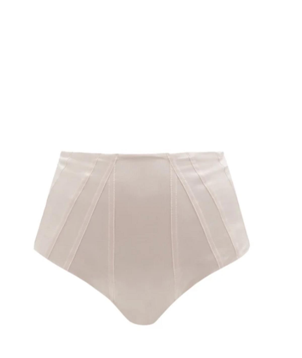 Course High-Rise Panelled Metallic Bikini Briefs