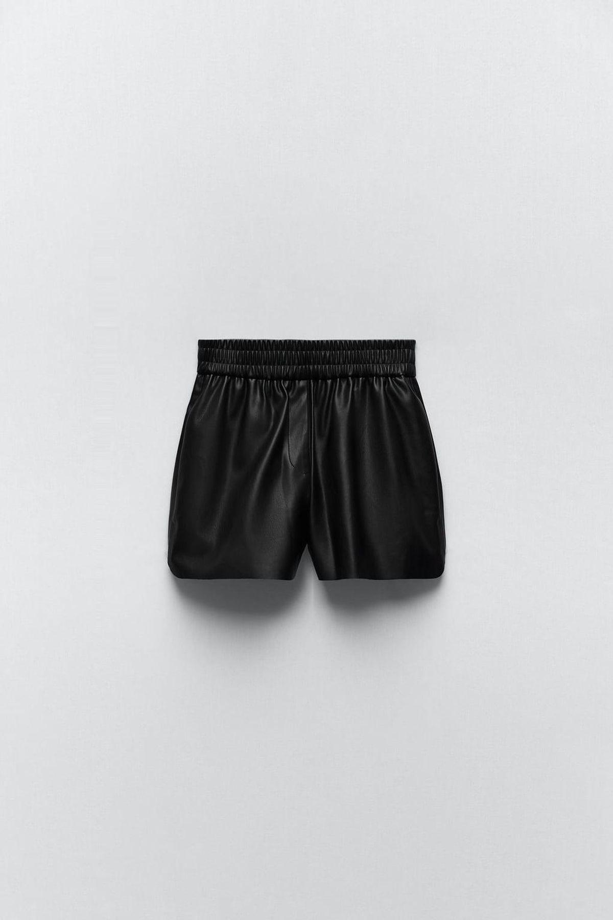 Faux Leather Boxer Shorts