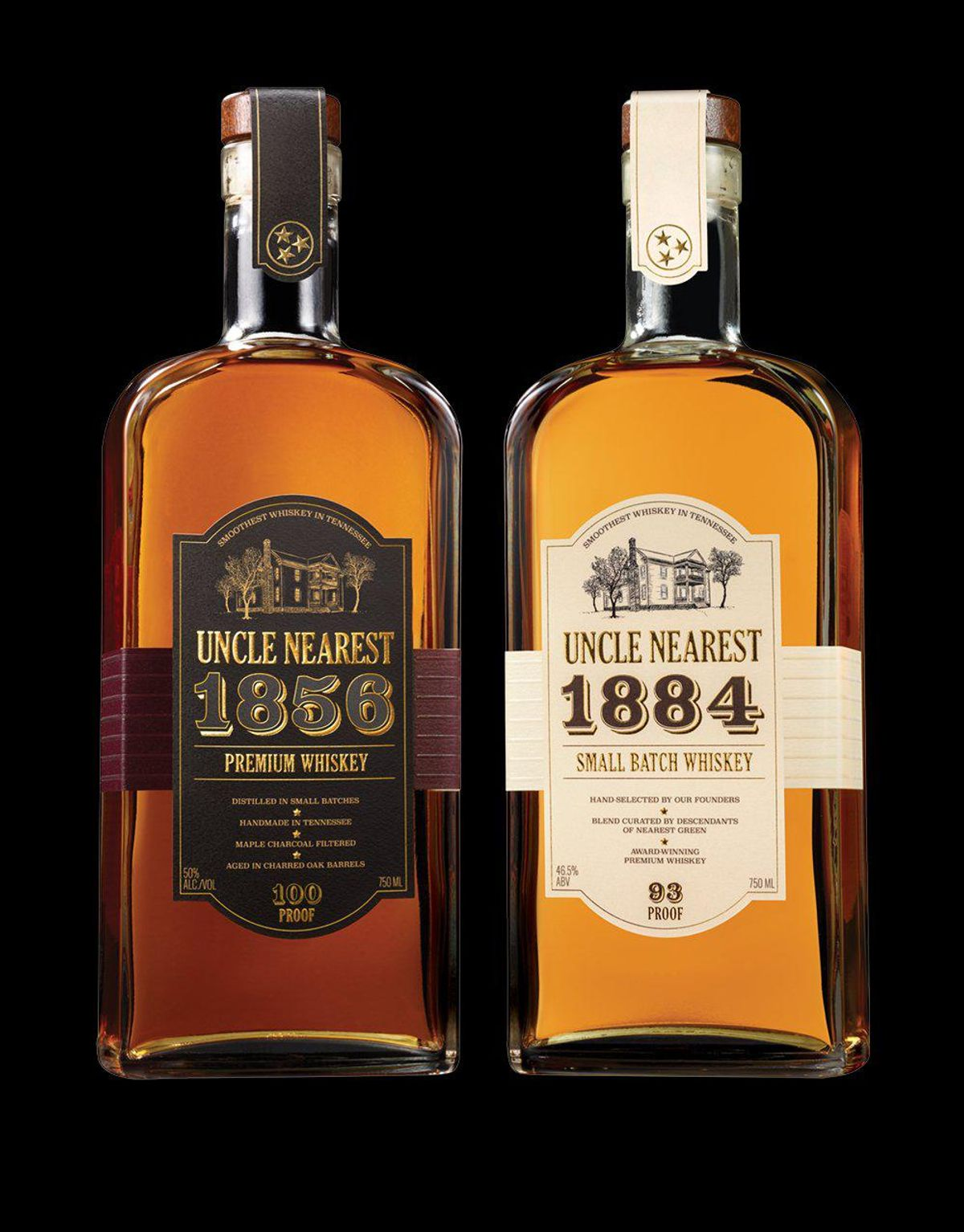 1856 Premium Aged Whiskey and 1884 Small Batch Whiskey