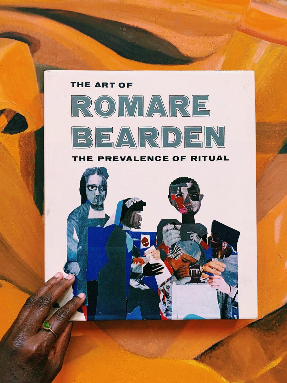 """Vintage Hardcover """"The Art of Romare Bearden: The Prevalence of Ritual"""" Coffee Table Art Book"""
