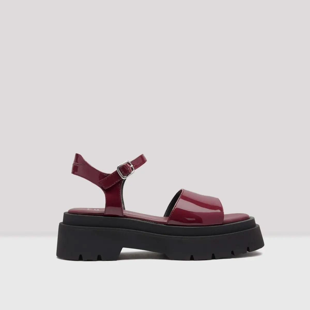 miista pauline sangria red patent sandals