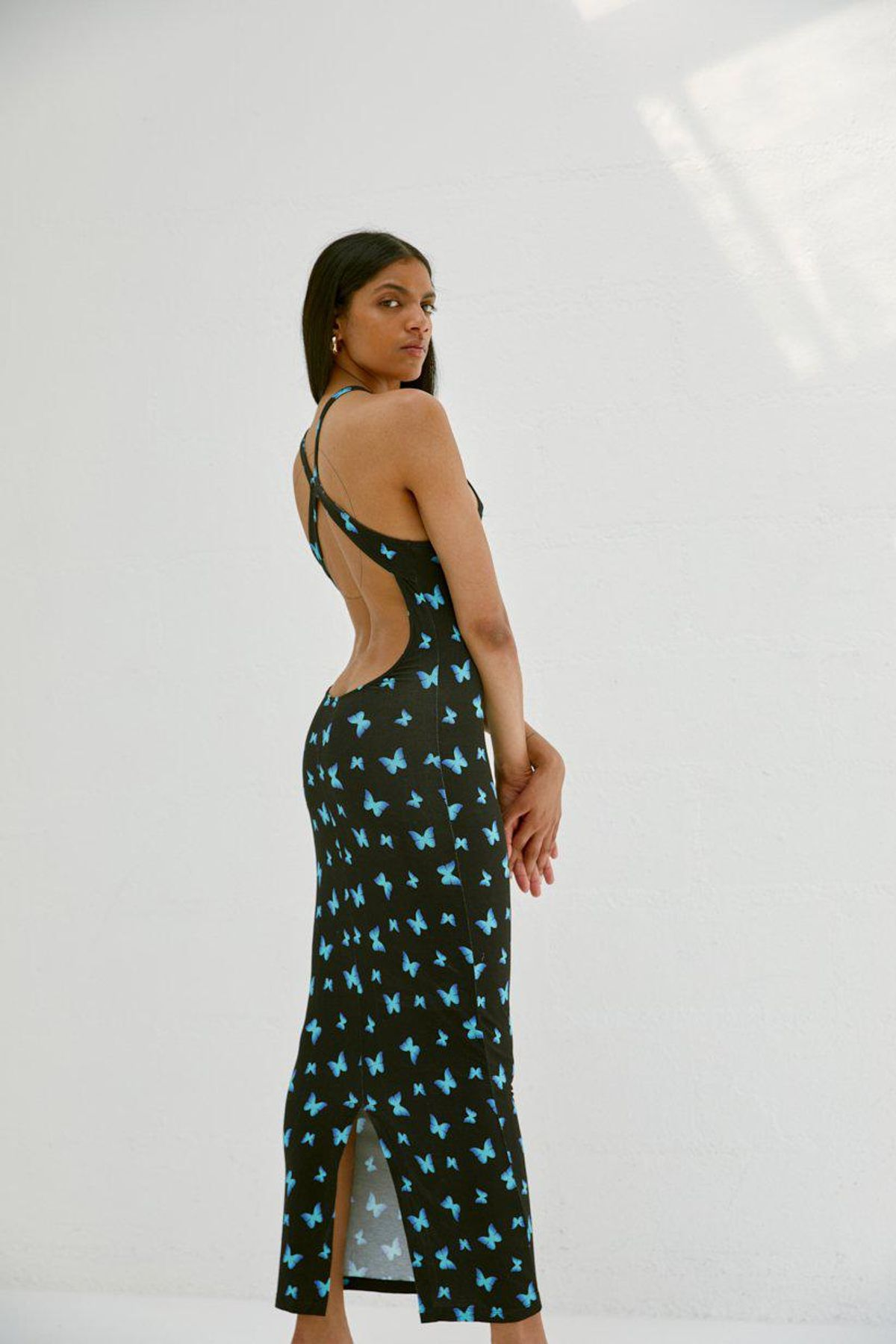 musier paris backless printed dress