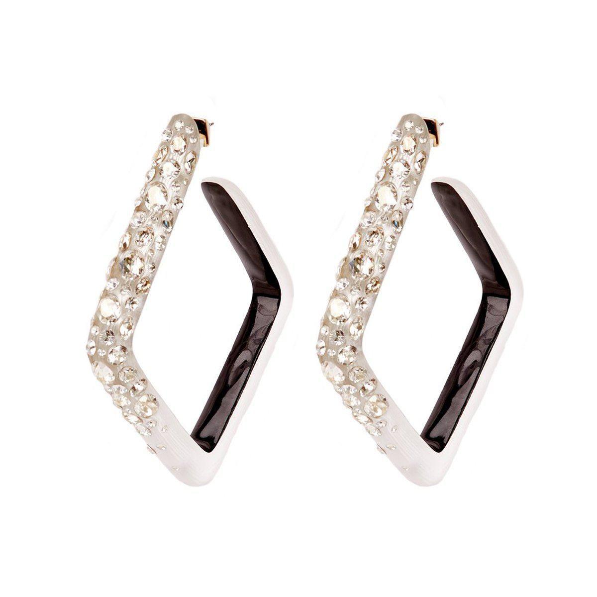 alexis bittar diamond dust hoop earring