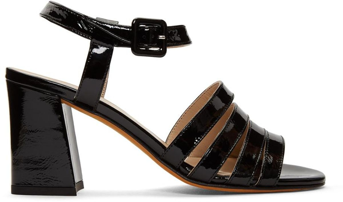 Black Patent Palma High Sandals
