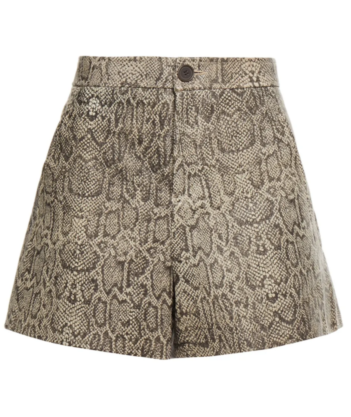 Abreal Snake Print Leather Shorts