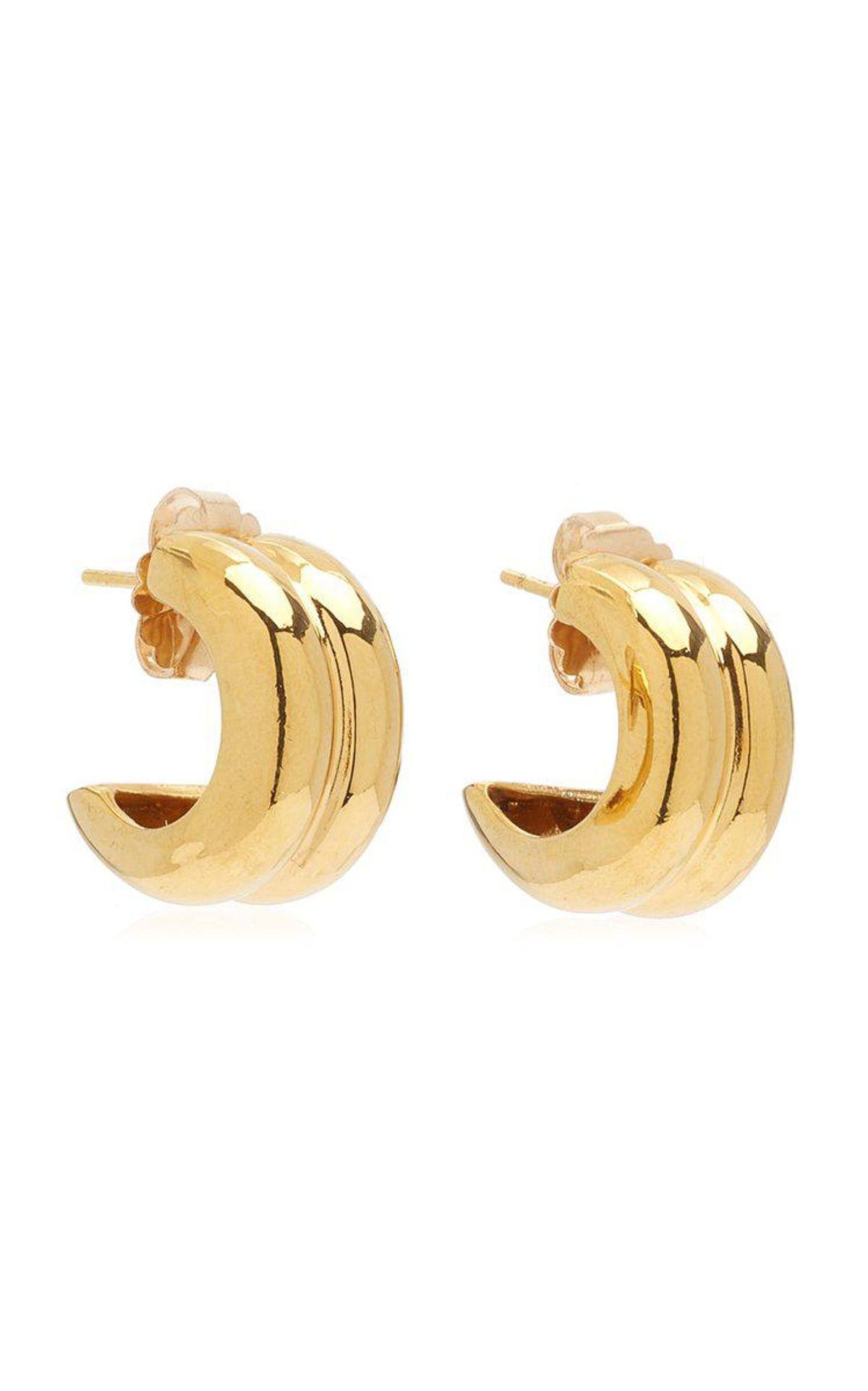 Giulia 18K Gold Vermeil Hoop Earrings