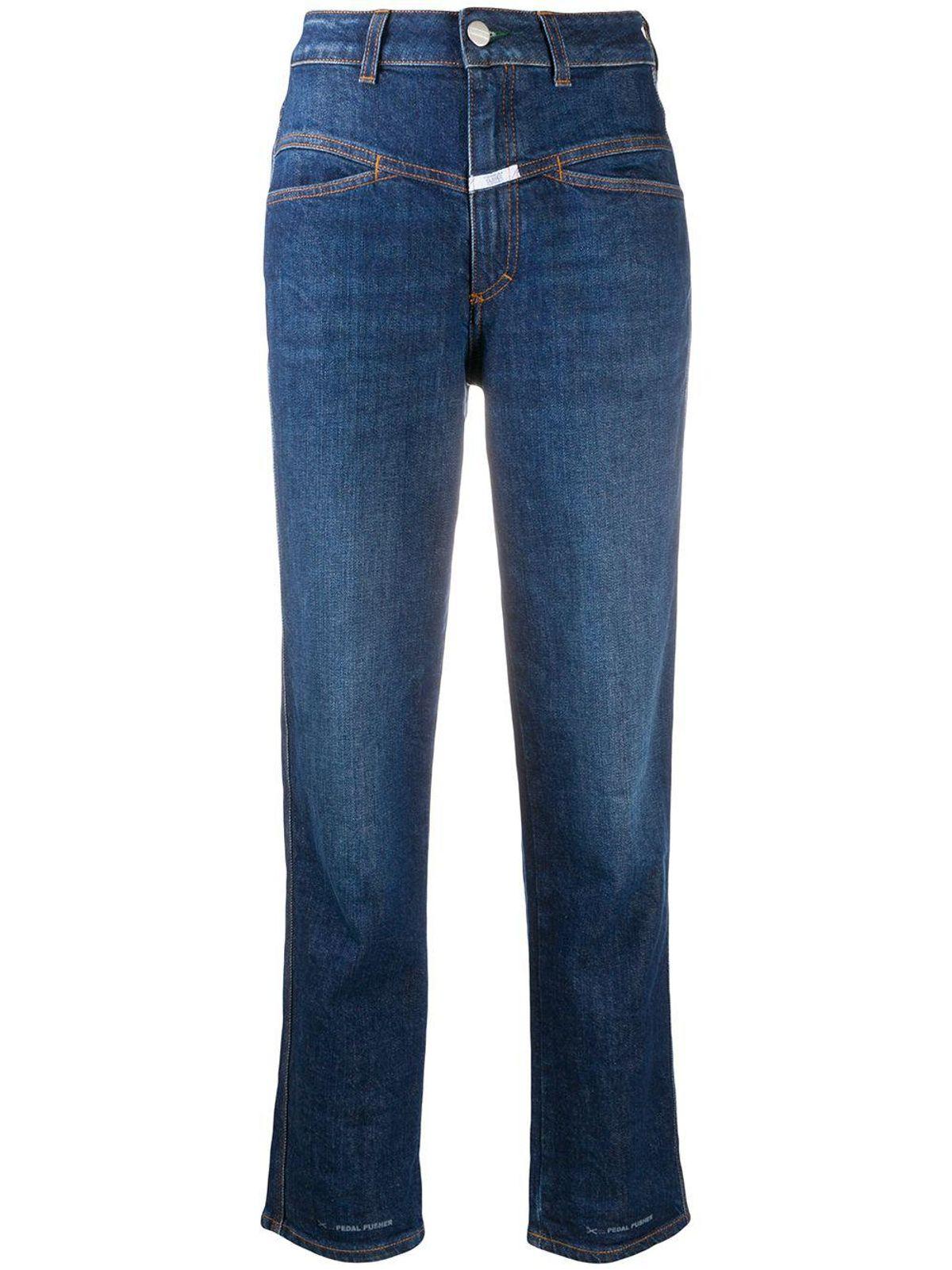 Pedal Pusher Straight Leg Jeans