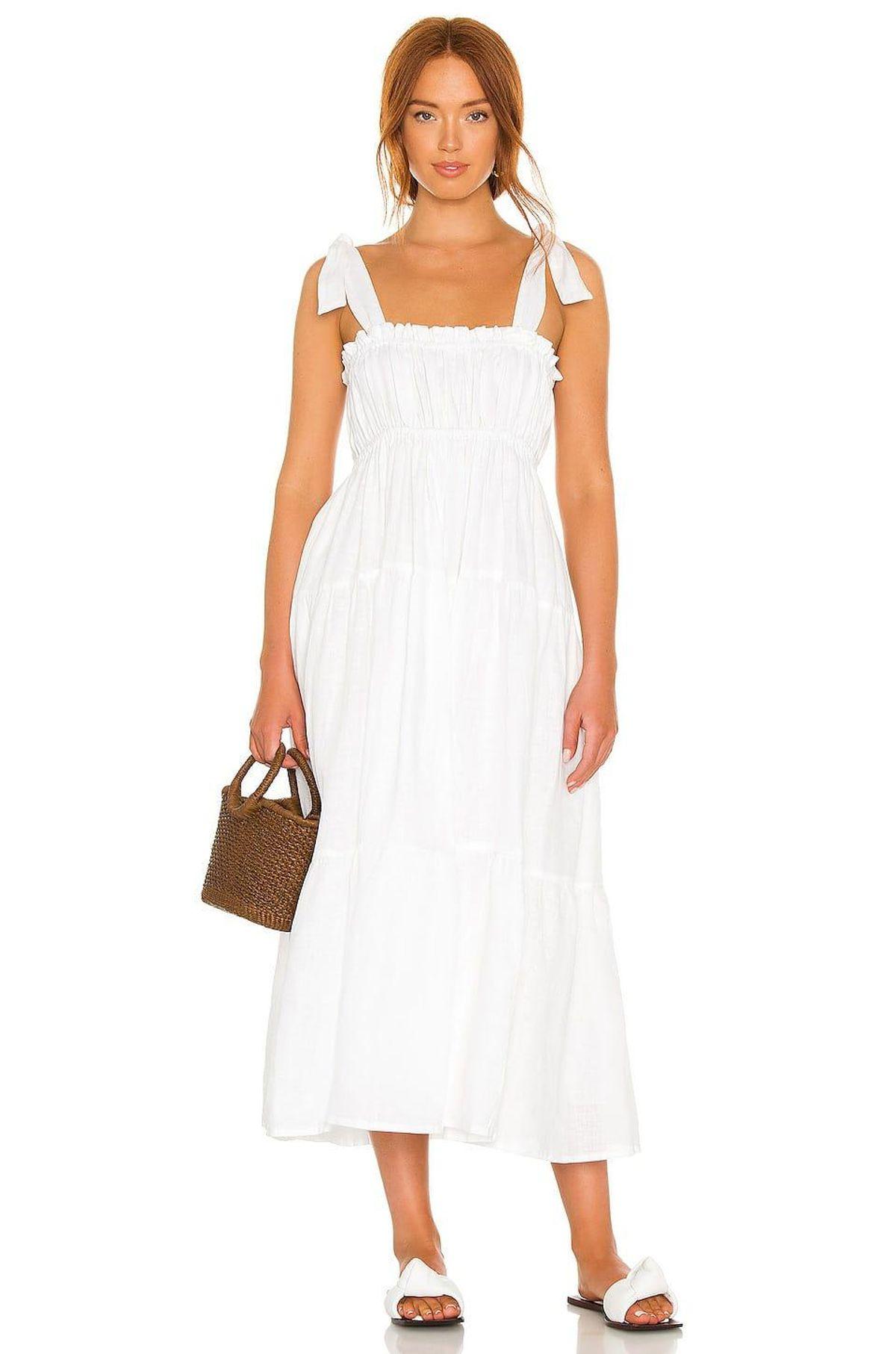 faithfull the brand bellamy midi dress