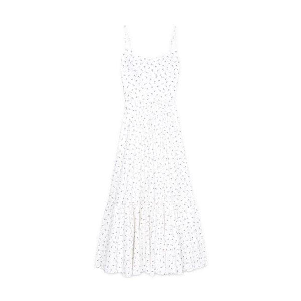 g label theodora tea length bustier dress