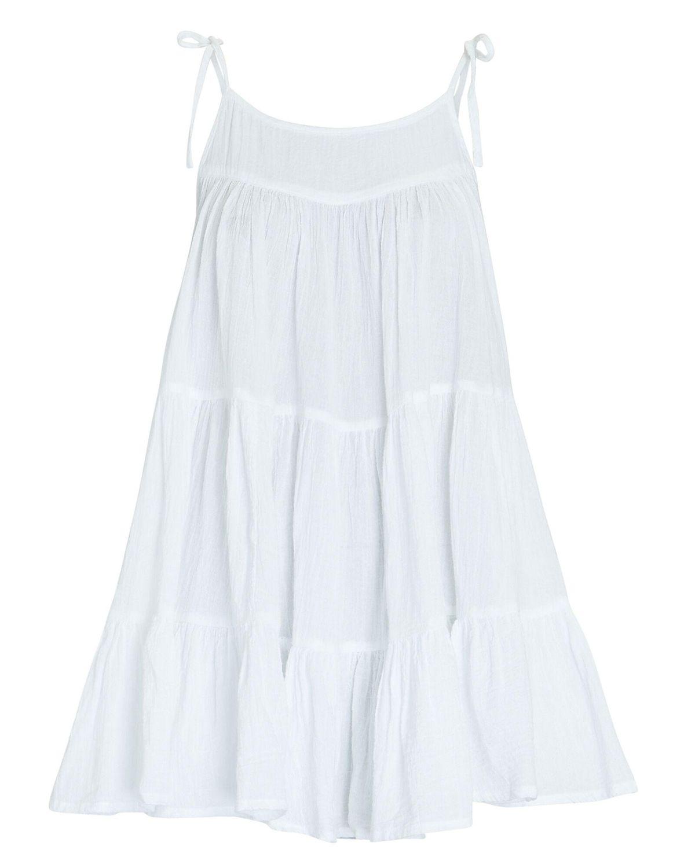 honorine peri tiered cotton mini dress