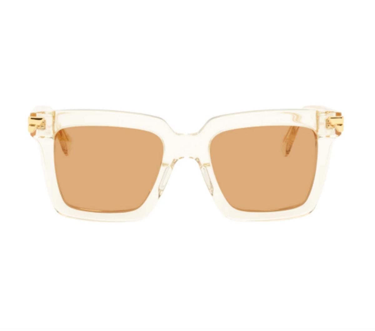 Beige Thick Sunglasses