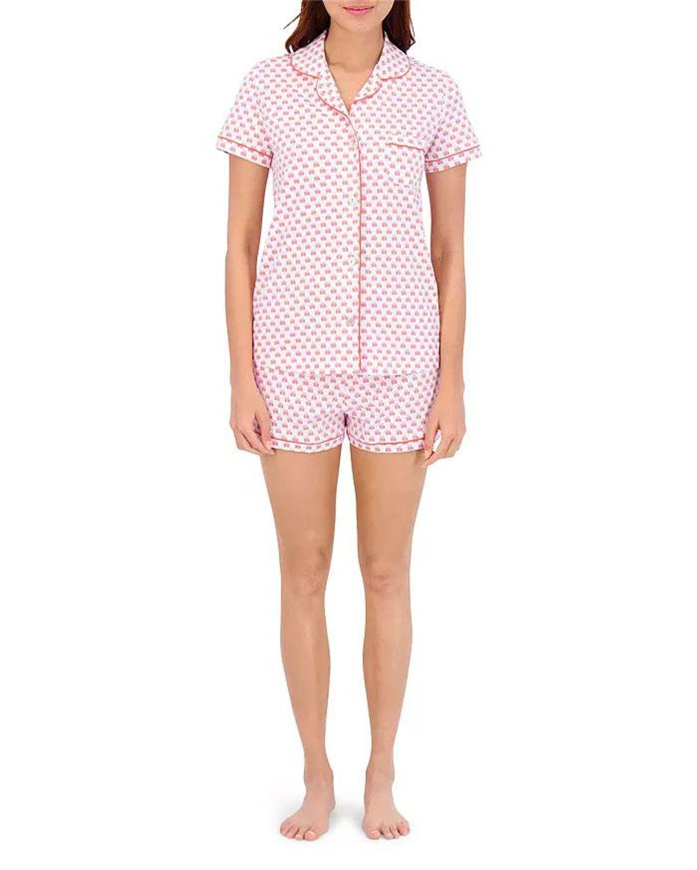 roller rabbit cotton pajama shorts set