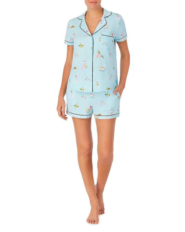 kate spade new york breakfast print short pajama set