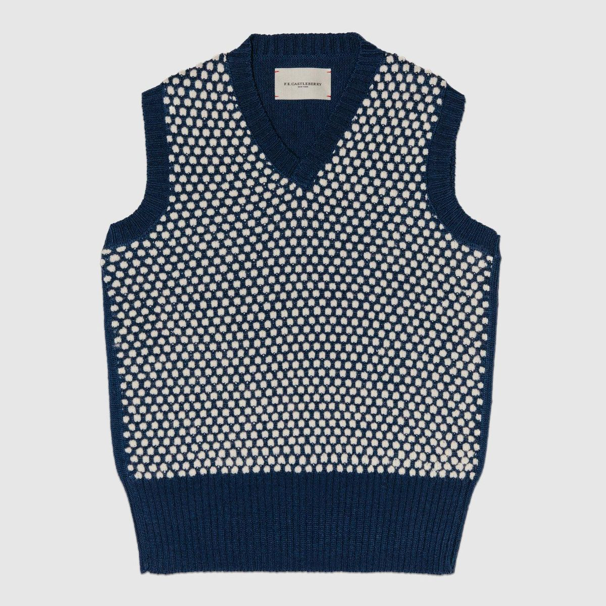 Geometric Jacquard V-Neck Vest