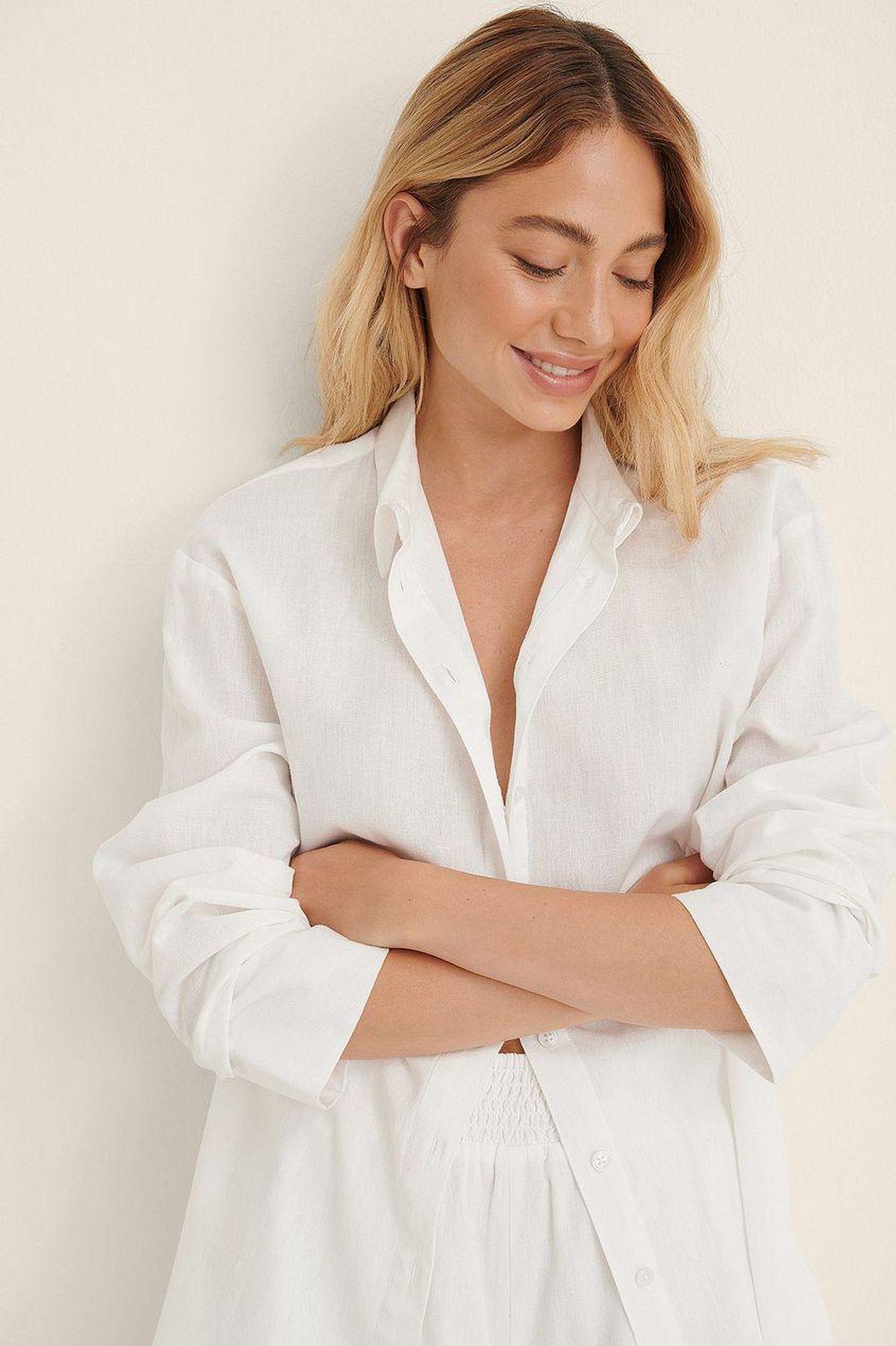 na kd linen look oversized shirt