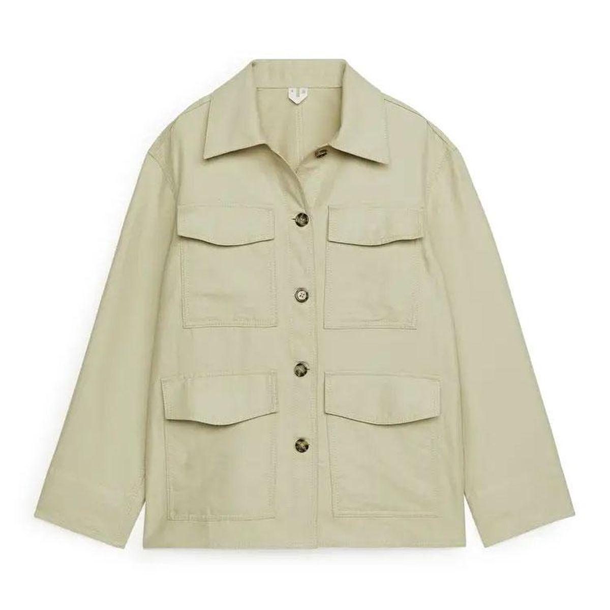 arket cotton hemp overshirt