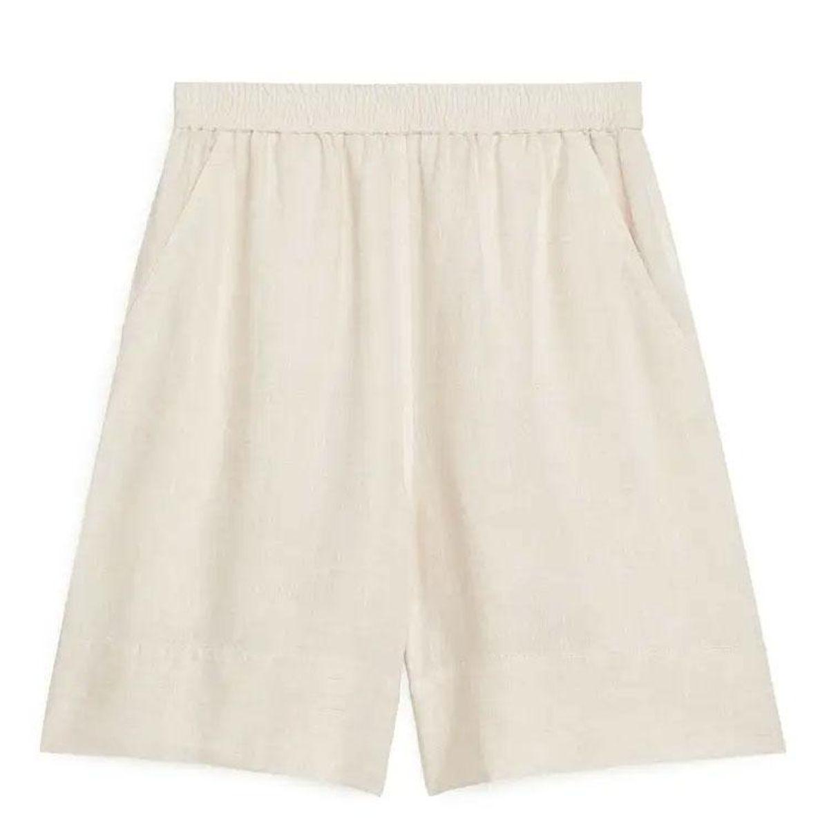 arket linen shorts