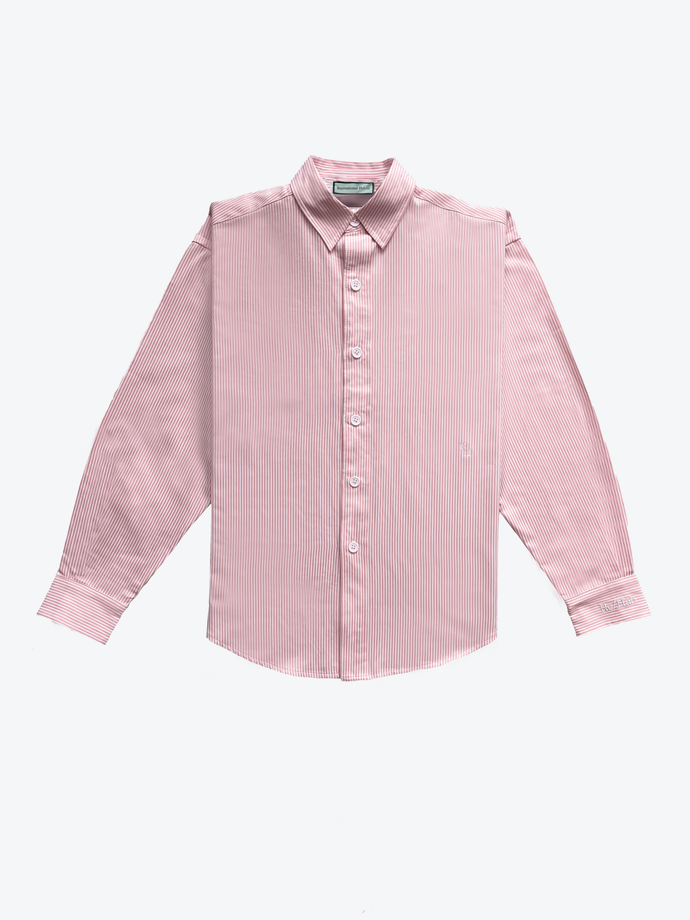recreational habits the martha cotton shirt in pale pink