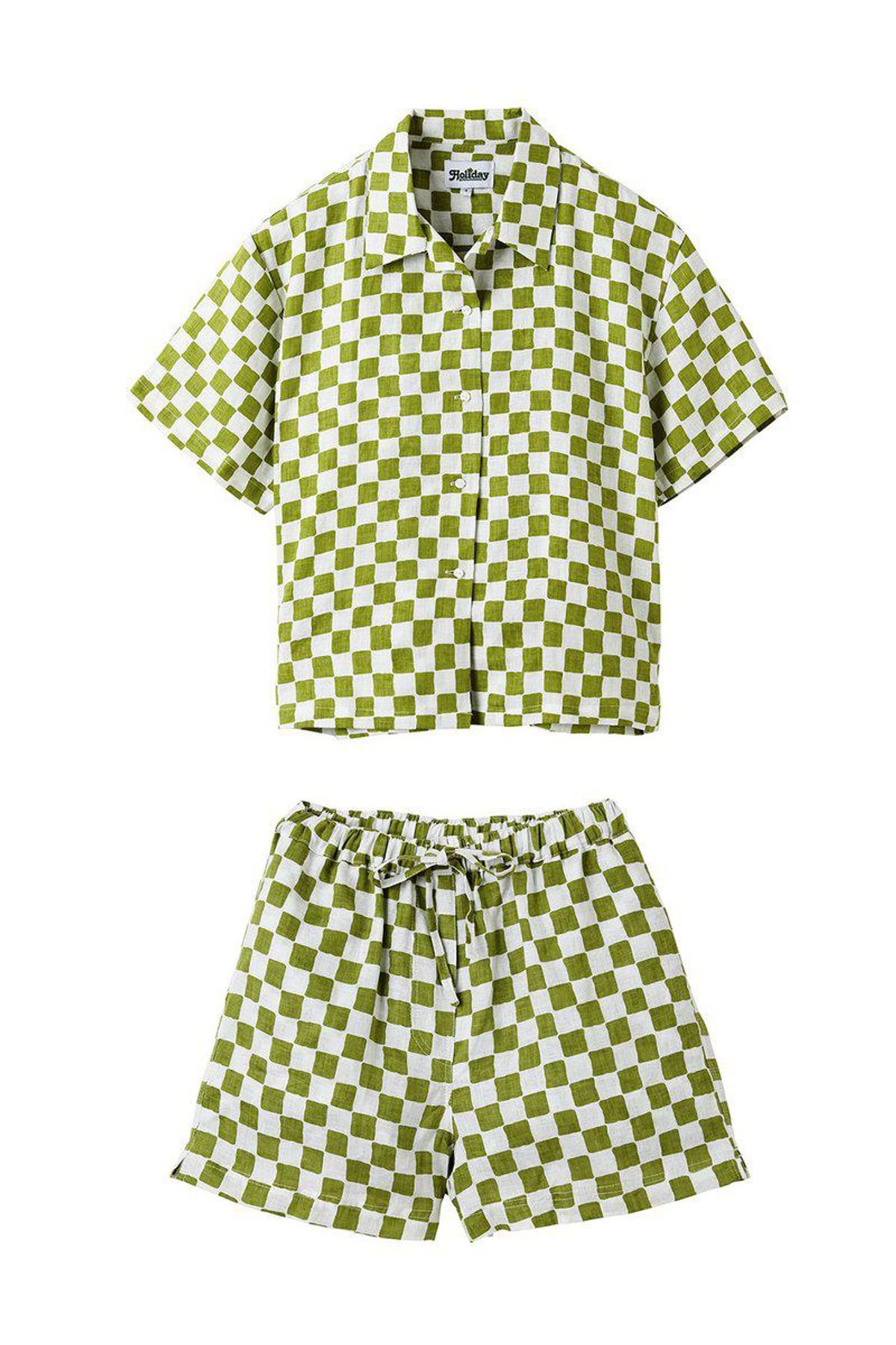 holiday pyjama short set