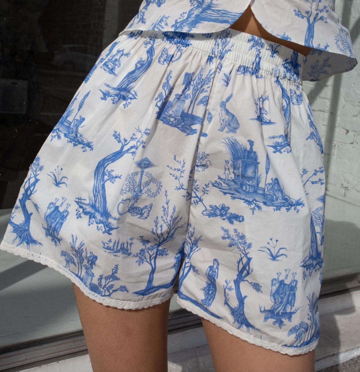 Caspia Shorts Toile de Jouy
