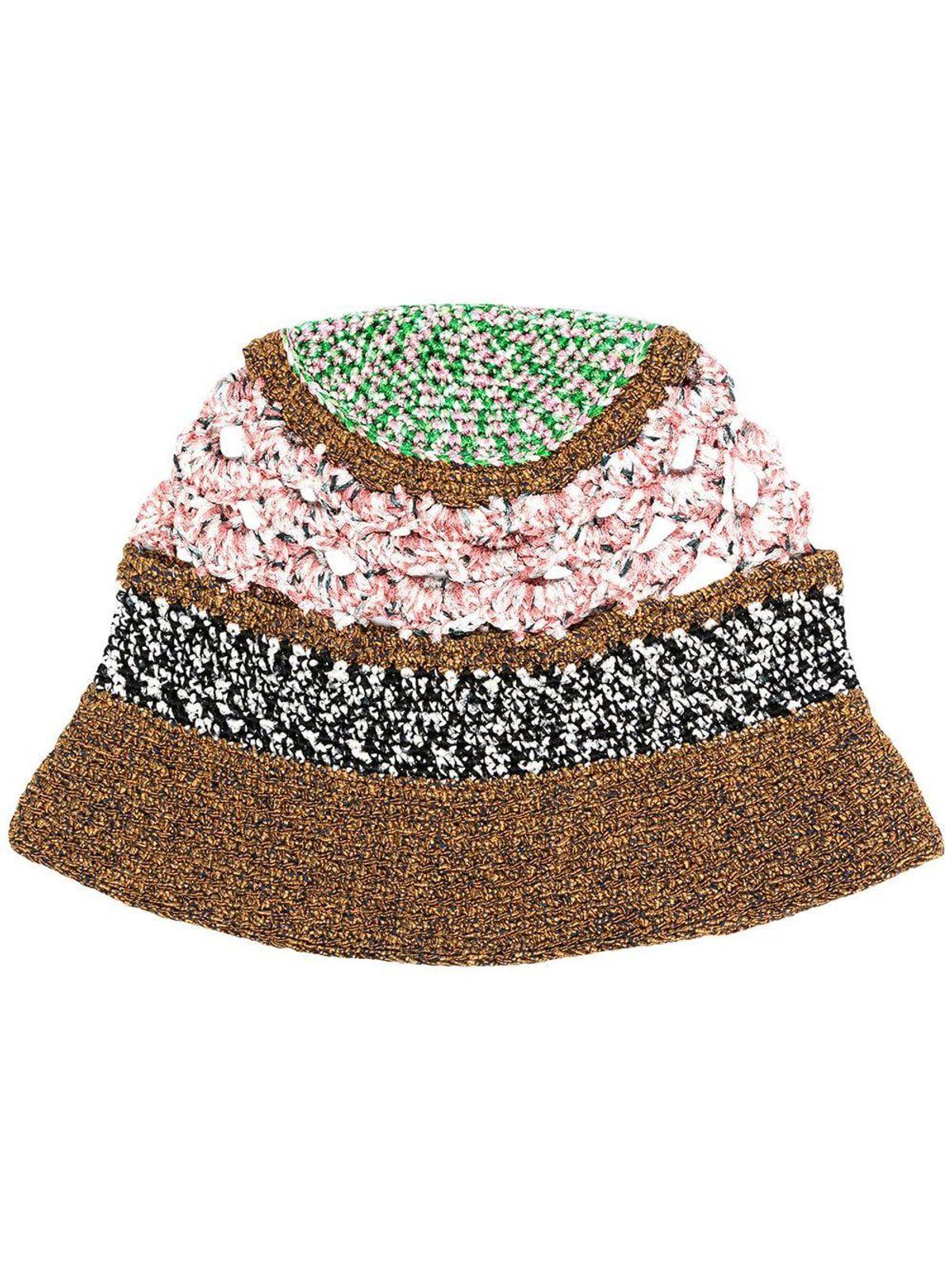 crochet knit bucket hat
