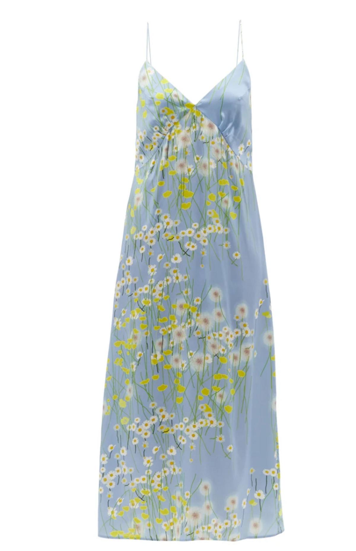 Jeanine Floral-Print Silk Blend Satin Nightdress