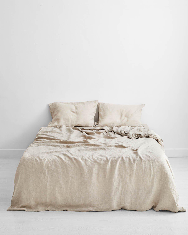 bed threads oatmeal 100 percent flax linen bedding set