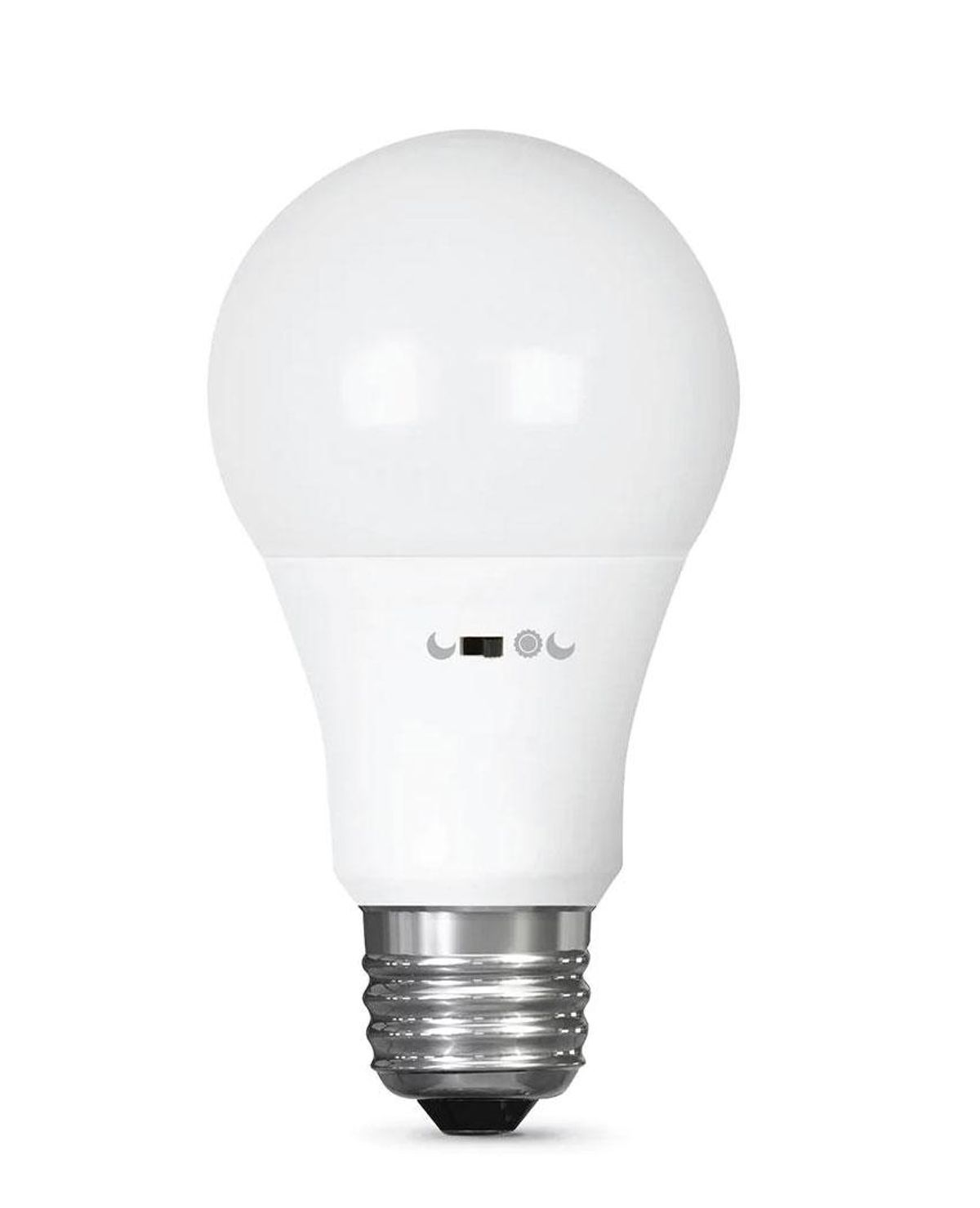 feit electric 60 watt equivalent a19 motion activated 90 plus cri indoor outdoor led light bulb soft white