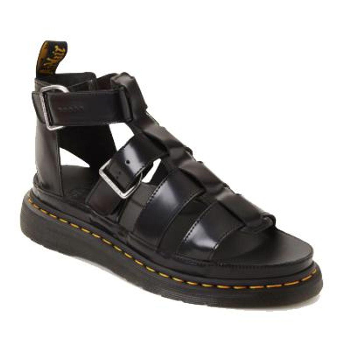 dr martens mackaye leather strap sandals