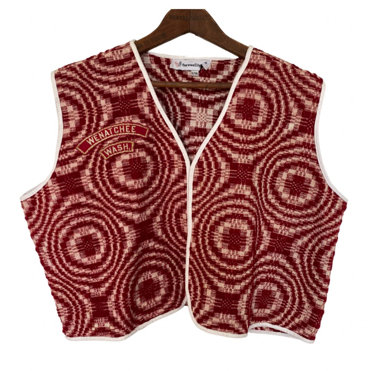 Wenatchee Wa Wool Coverlet Vest