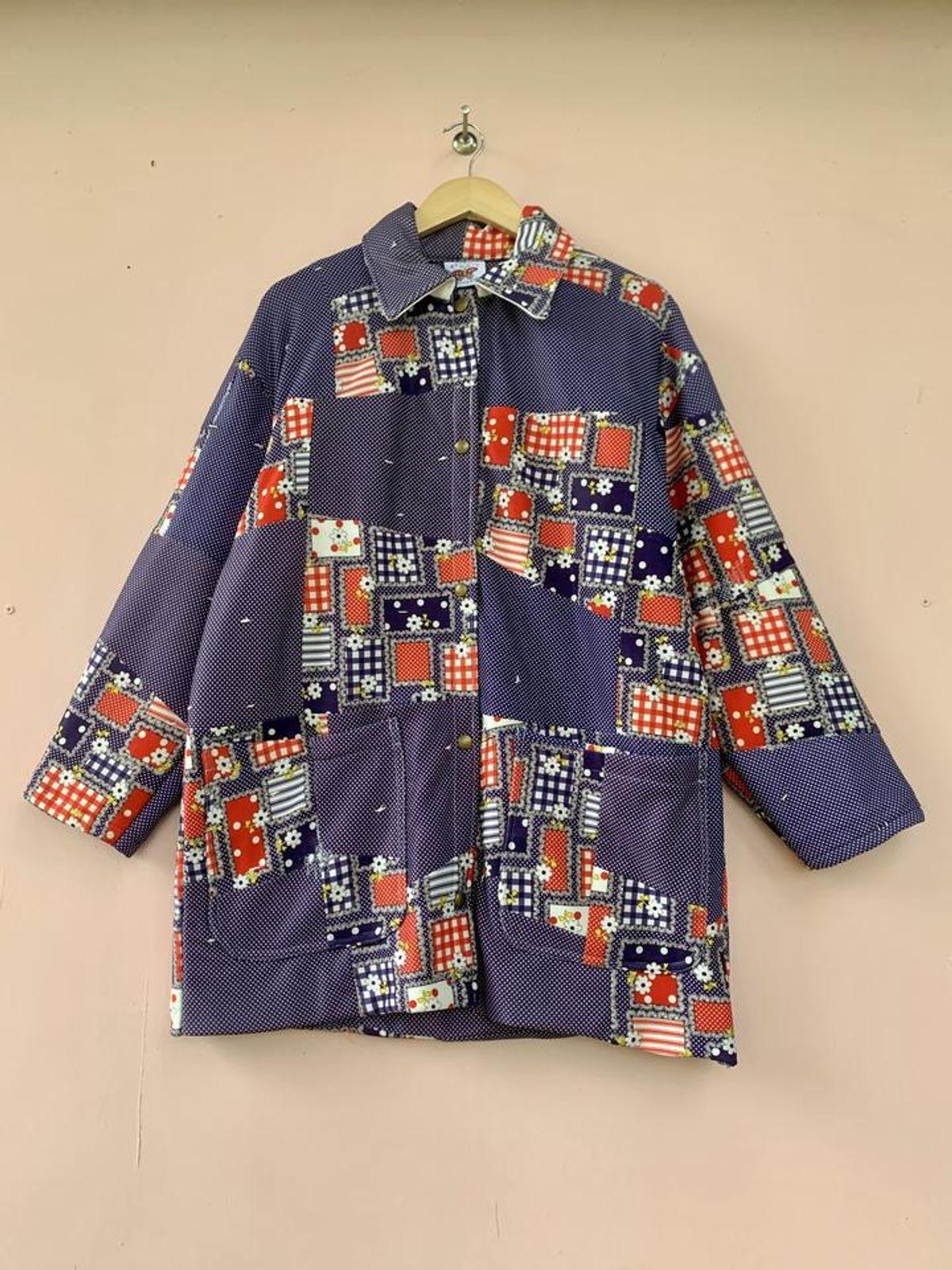 Poly Daisy Picnic Readymade Chore Coat