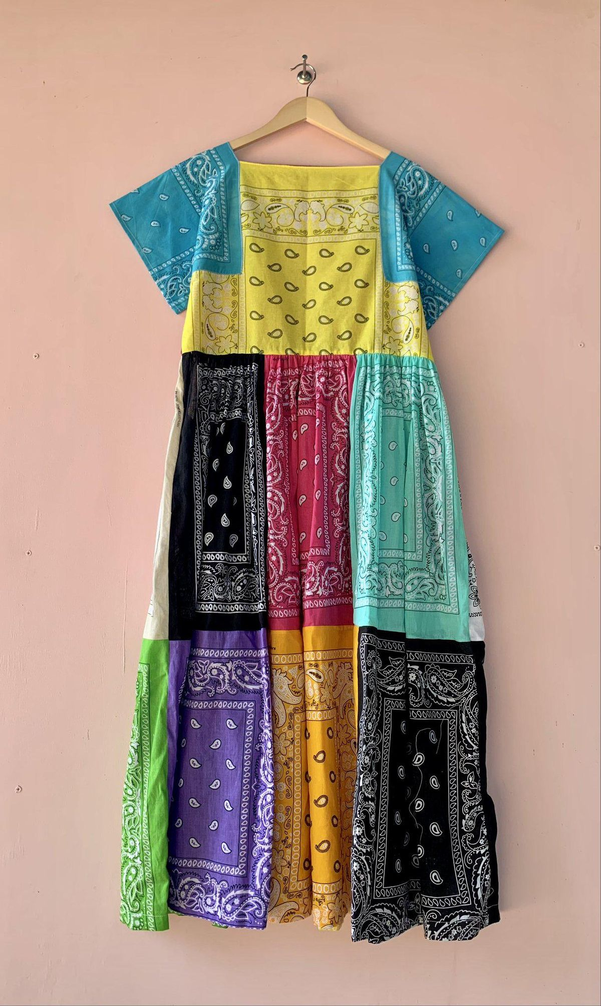 Bouquet Maxi Short Sleeve Bandana Dress