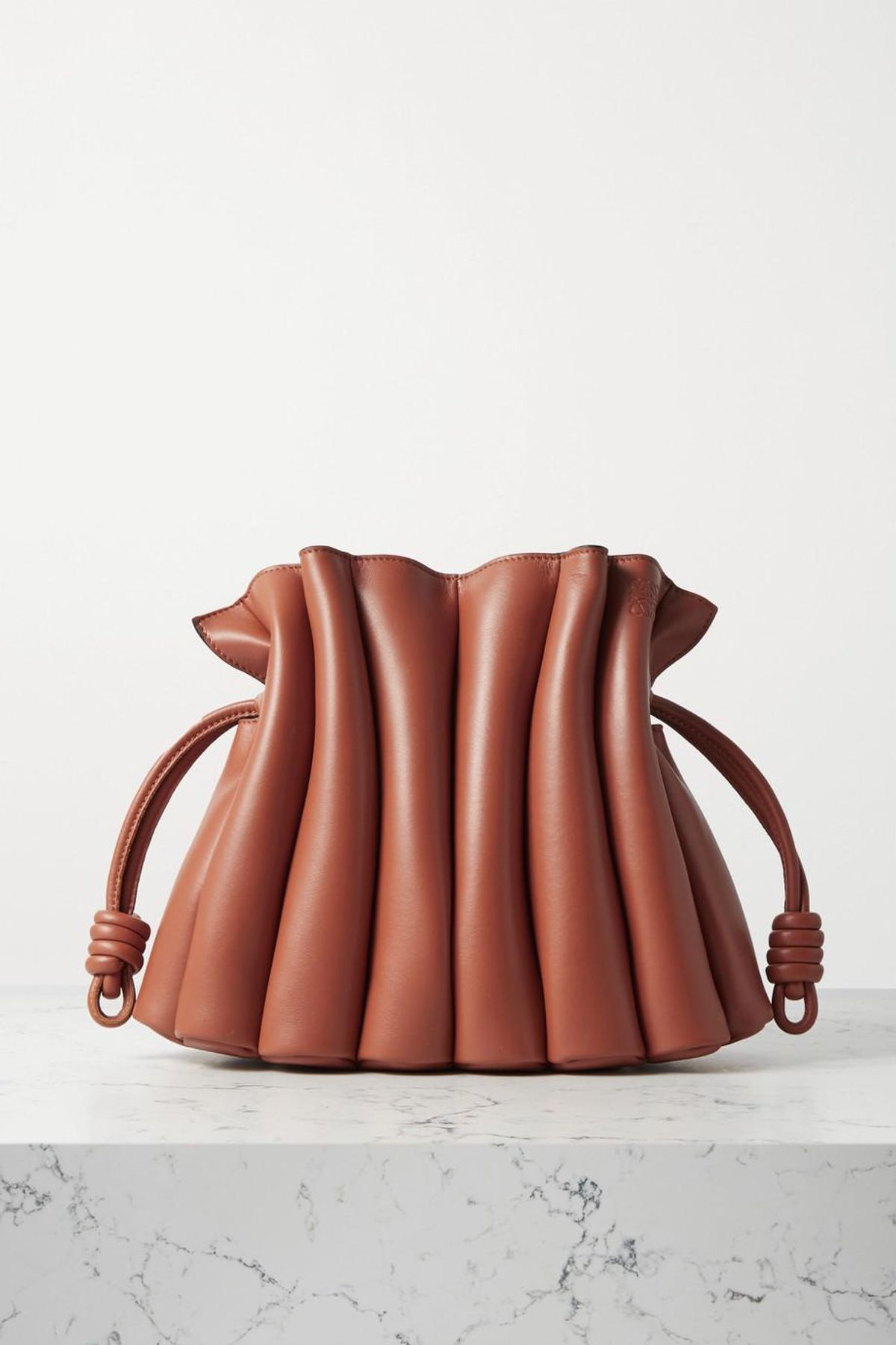 Flamenco Ondas Pleated Leather Clutch