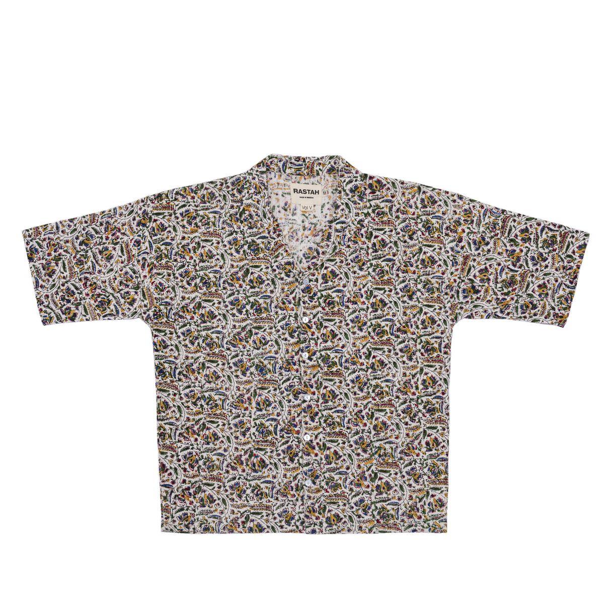 Floral Hand Block Print Shirt