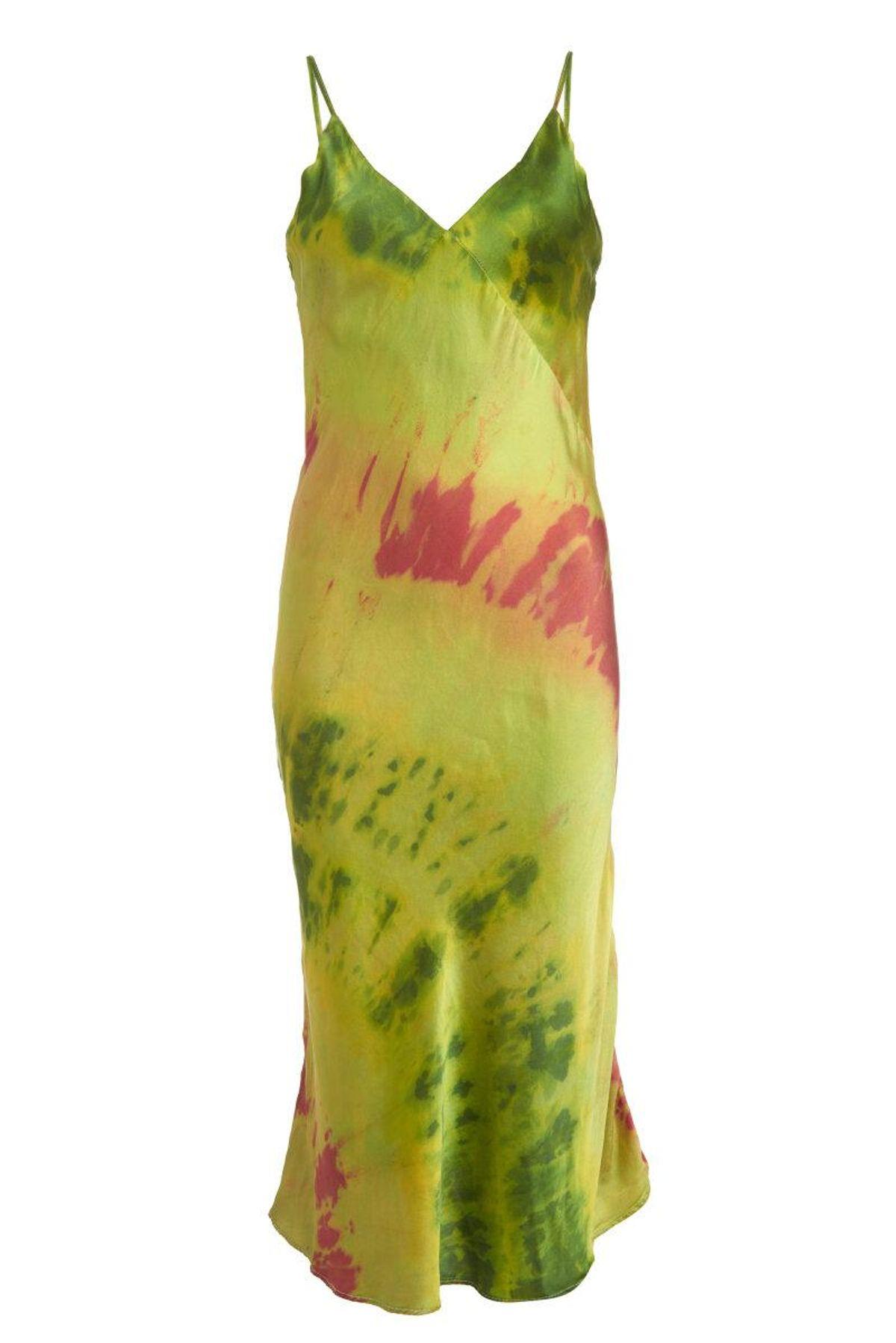 Sandia Silk Slip Dress