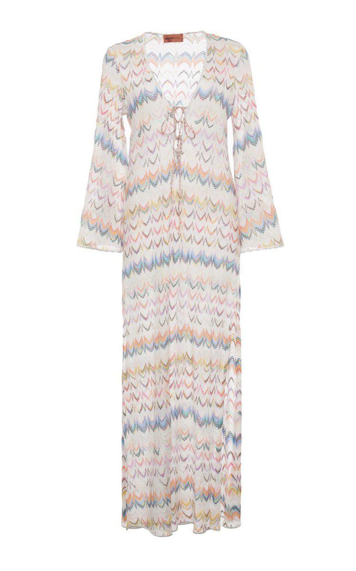 Crochet-Knit Cover Up Maxi Dress